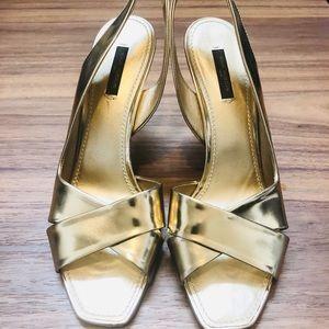 LV Gold Sandals